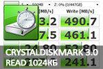 CrystalDiskMark 3.0 последовательное чтение