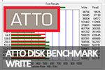 ATTO Disk Benchmark Скорость записи