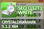 CrystalDiskMark 5.1.2 x64 Seq Q32T1 write