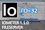 IOmeter 1.1.0 Fileserver, глубина очереди=32