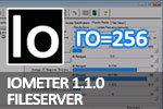 IOmeter 1.1.0 Fileserver, глубина очереди=256