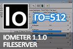IOmeter 1.1.0 Fileserver, глубина очереди=512