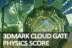 FutureMark 3DMark 2013 Cloud Gate Physics score