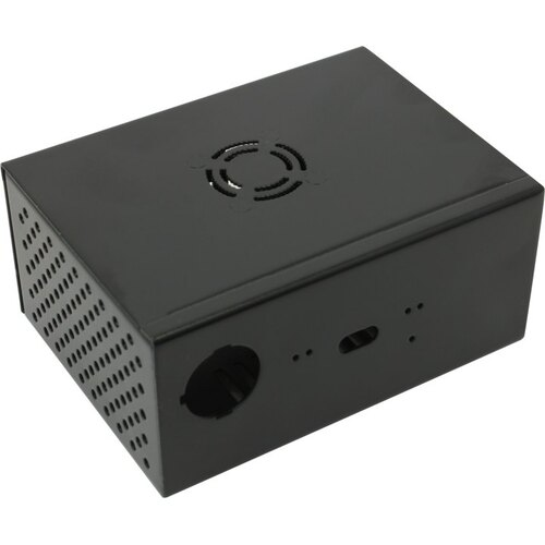 Metal Case + Power Control Switch + Cooling Fan for Raspberry Pi X820  (X800) SSD&HDD SATA Storage Board KP561