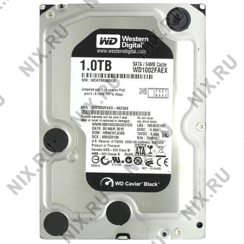 Жесткий диск Western Digital Caviar Black 1 Тб WD1002FAEX 1 Тб SATA
