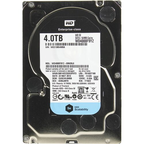 Жесткий диск Western Digital WD Se 4 Тб WD4000F9YZ SATA